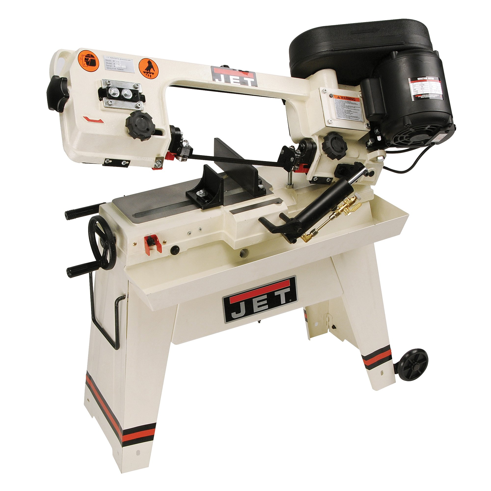 JET J-3130 5-Inch by 8-Inch 1/2-Horsepower 115-Volt Single Phase Horizontal Dry Bandsaw by Jet