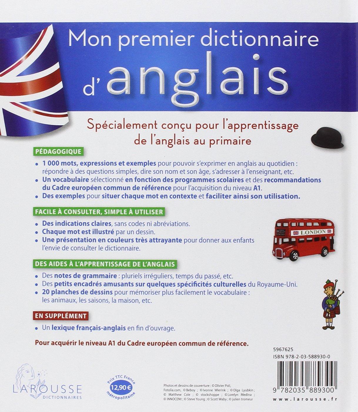 Salle De Bain Marron Et Beige ~ Amazon Fr Mon Premier Dictionnaire D Anglais Larousse Collectif