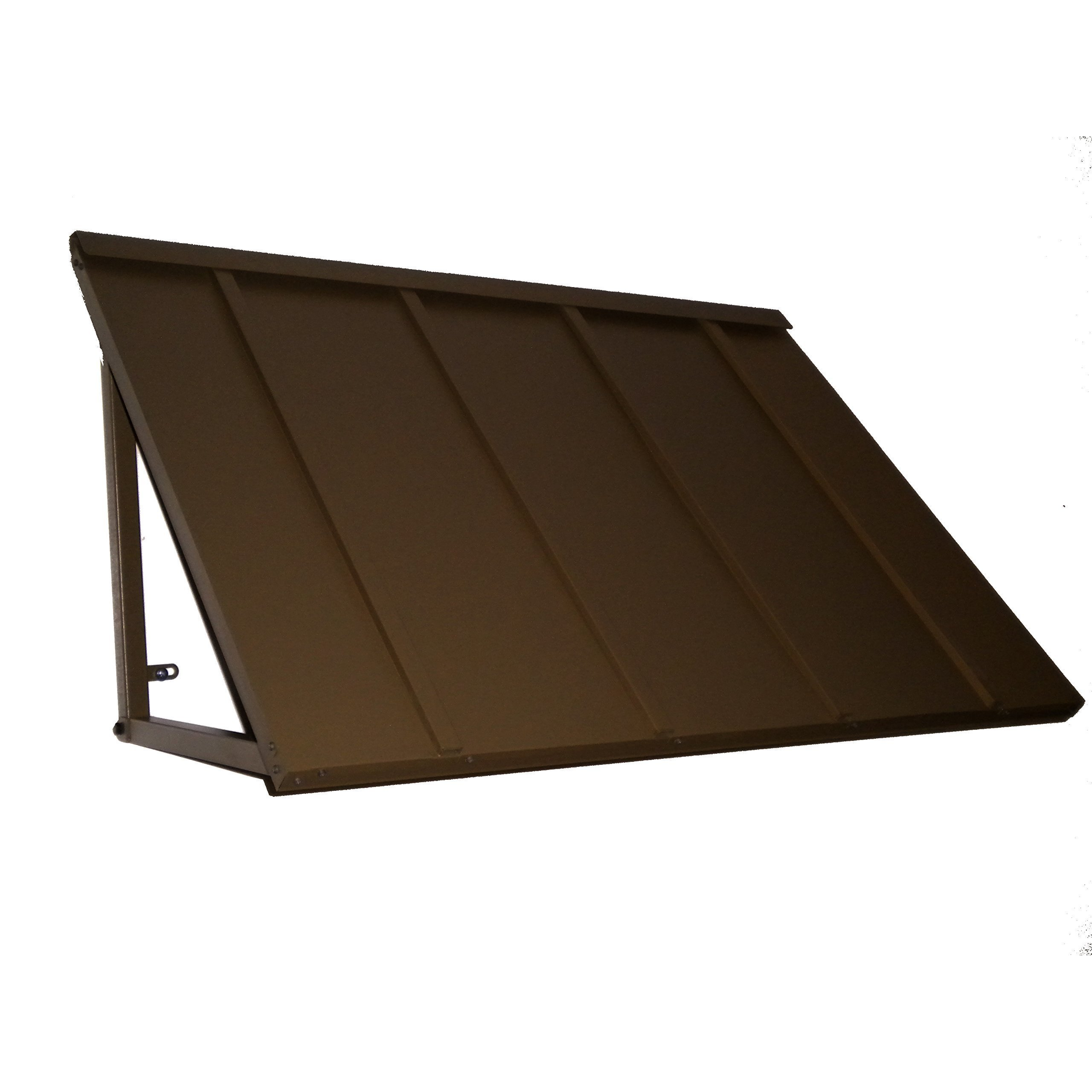 Denmir Door-Window Awnings Metal Standing Seam, 6ft x 36'' Bronze