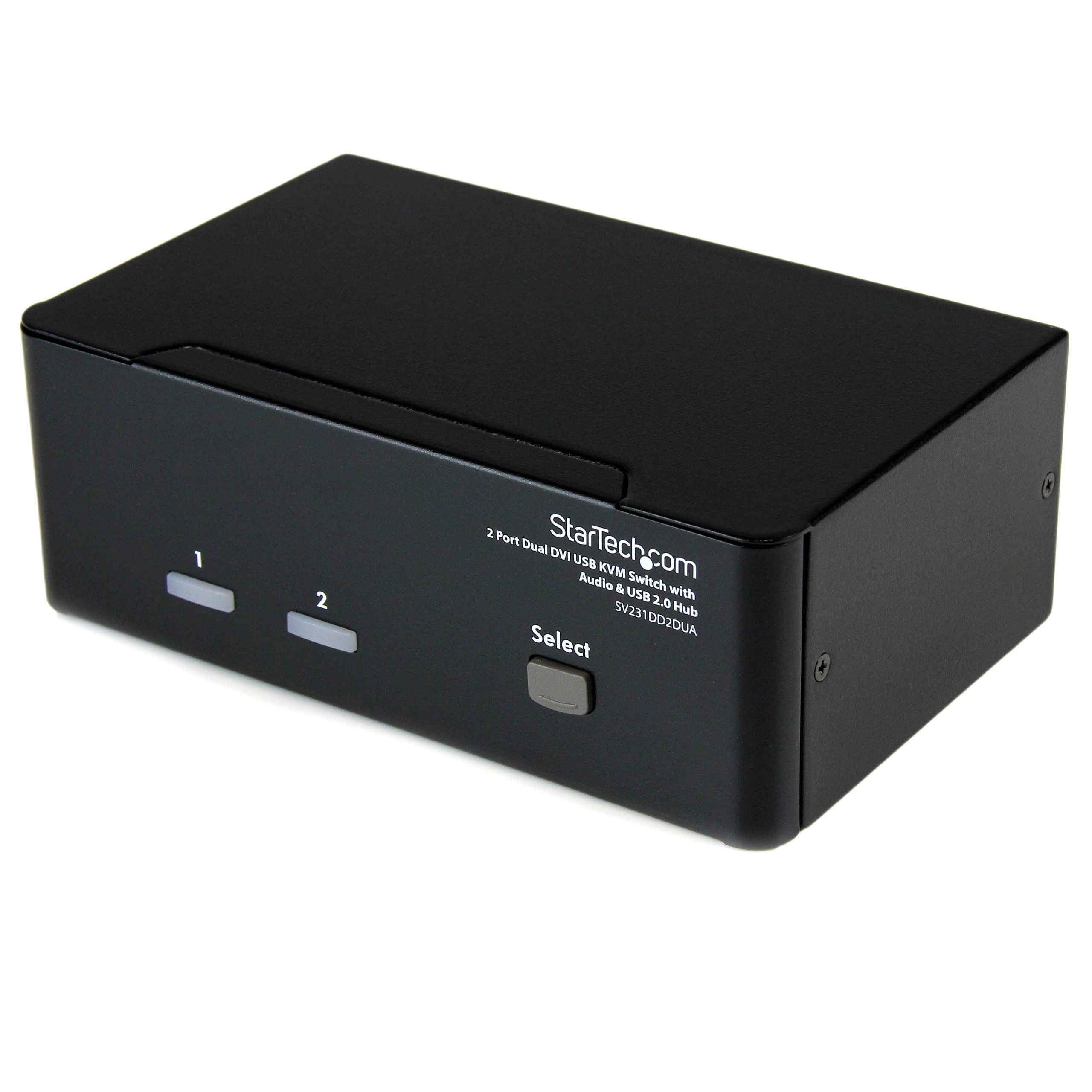 StarTech.com 2 Port Dual DVI USB KVM Switch with Audio and USB 2.0 Hub (SV231DD2DUA)