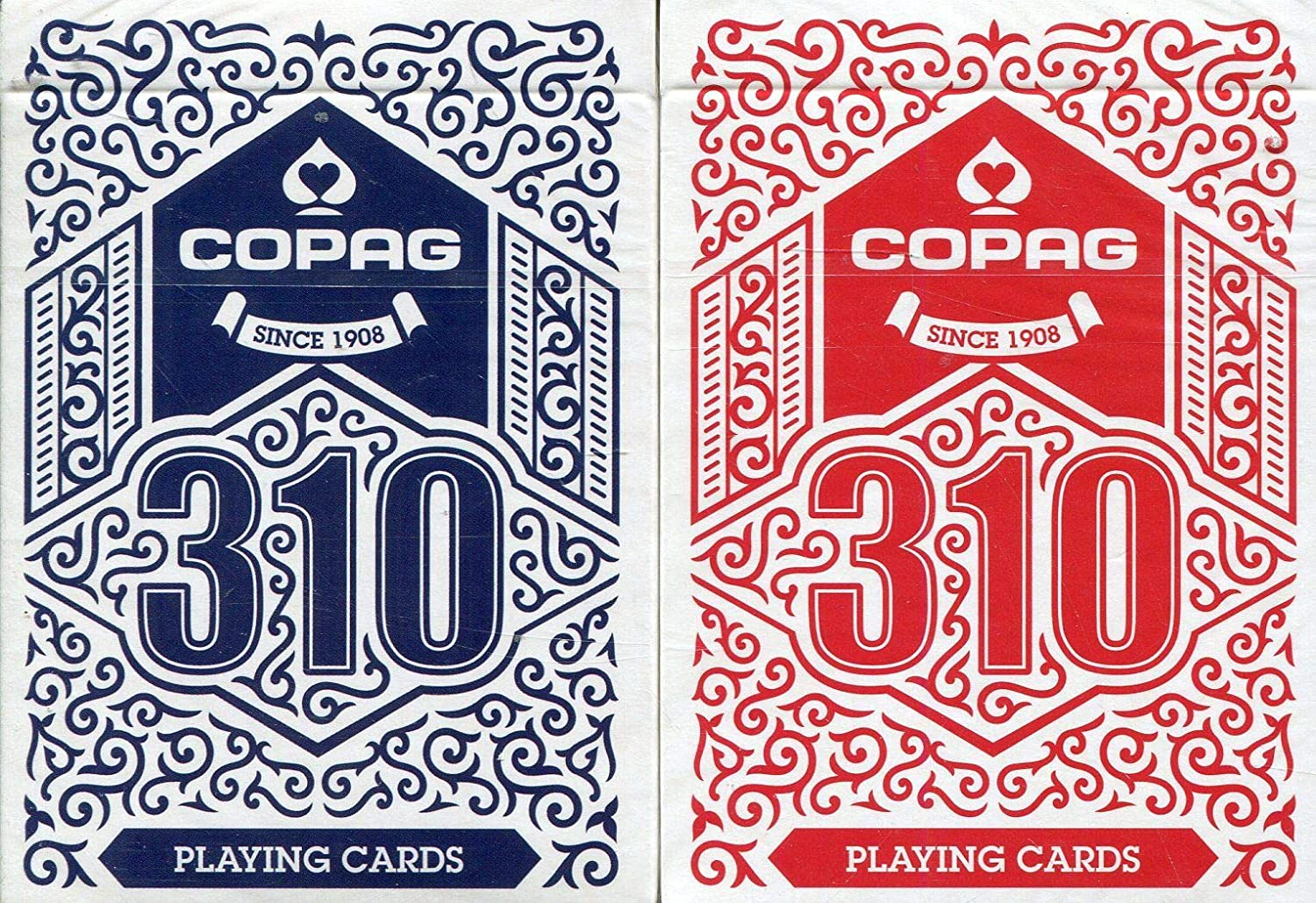 Copag 310 Playing Cards Blue /& Red Editions Made in Europe 2-Decks