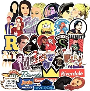 TV Show Themed Riverdale 35 Piece Serpents Sticker Decal Set for Kids Adults - Laptop Motorcycle Skateboard Decals