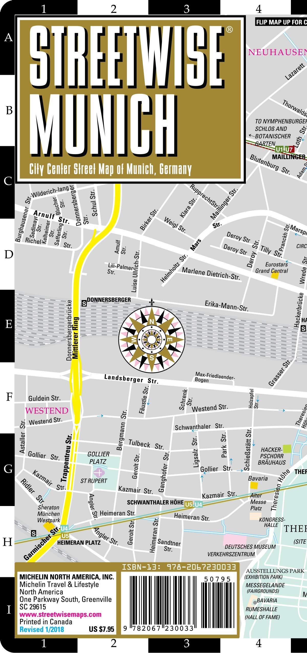 Streetwise Munich Map - Laminated City Center Street Map of ...