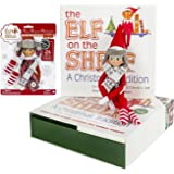 Elf on the Shelf Holiday Gift Bundle: Boy Scout Elf (Blue Eyes) With Christmas Tradition Storybook and Polar Pattern Winter Wear Set