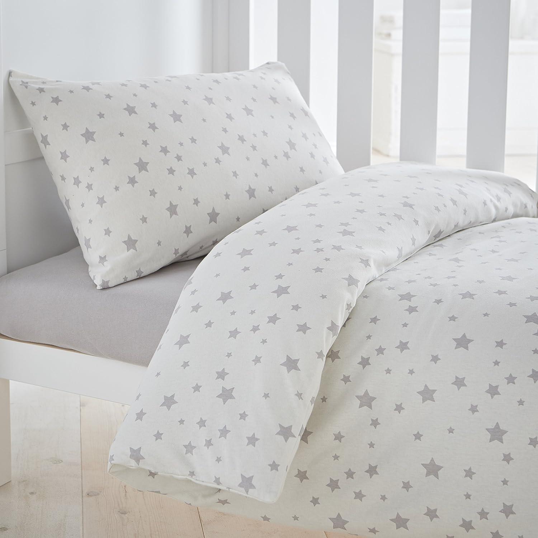 Silentnight Safe Nights Bettbezug Set, grau Sterne e-bedding 478366GE