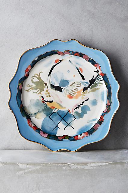 Plumed Crest Dessert Plate - anthropologie.com