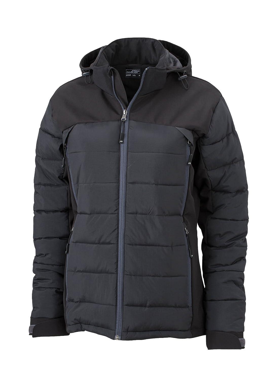 noir grand Doudoune Femme veste matelassé d'hiver à capuche Blouson