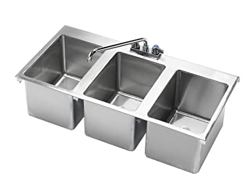 Krowne 36 Quot X 18 Quot Three Compartment Drop In Hand Sink