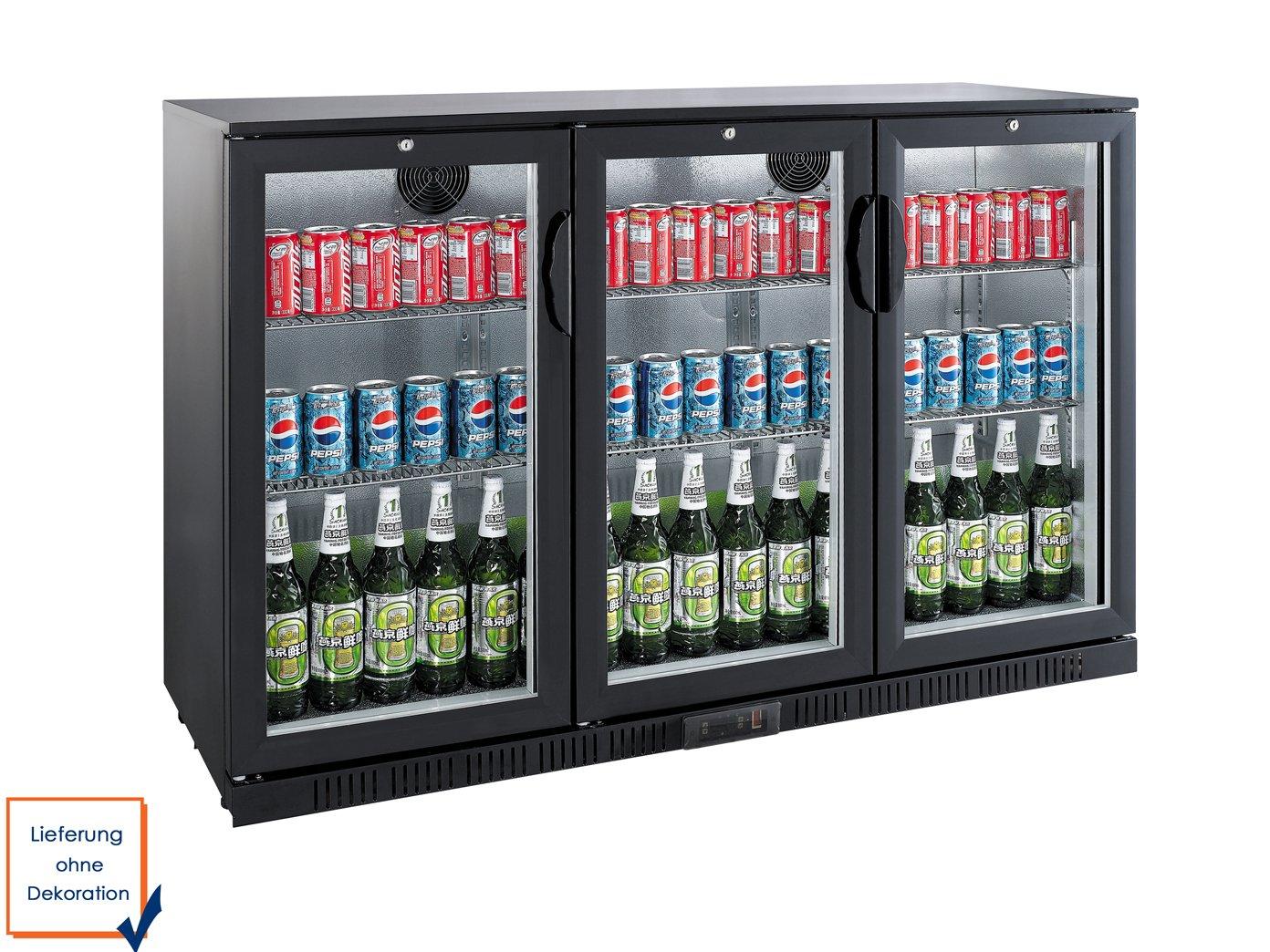 Profi Getränkekühlschrank, 330 Liter, 0° C/ +10° C, Umluftkühlung ...