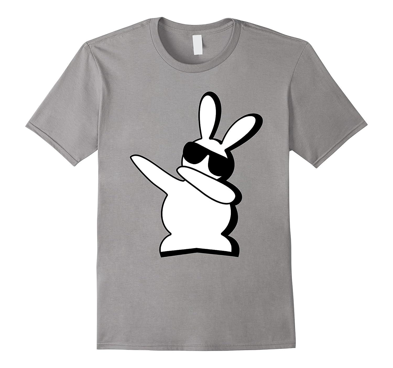 Dabbing Hip Hop Bunny Easter Shirt for Boys Girls Adults Dab-TD