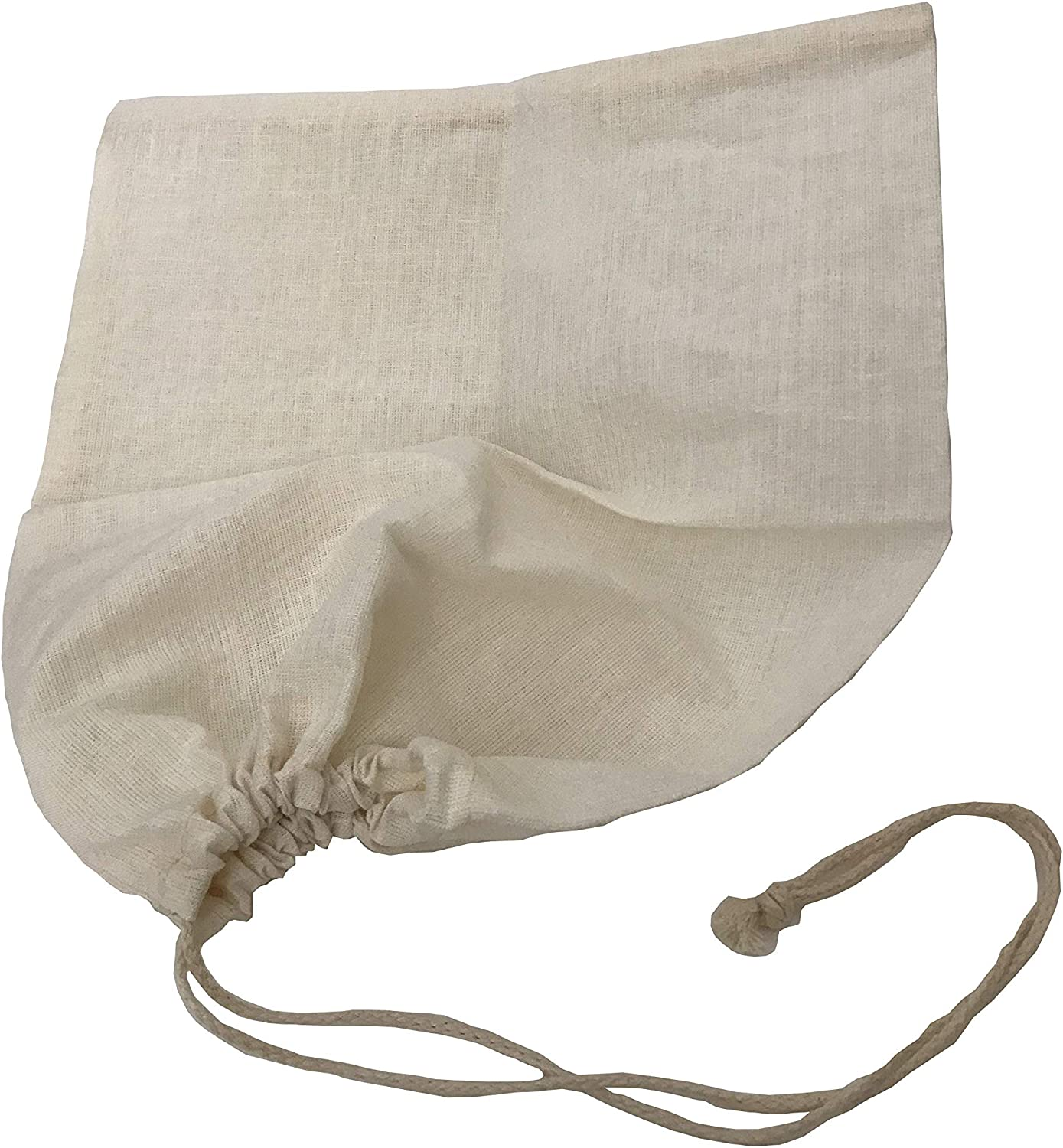 Spot on Products 100 Per Cent Natural Hemp Produce and Filter Bags. 2Pack Reusable Food Pouches with Sturdy Drawstrings. Best for Filtering Nut Milk, Juice, Storage of Fruit, Veg, Cheese 12 x 14 Inch