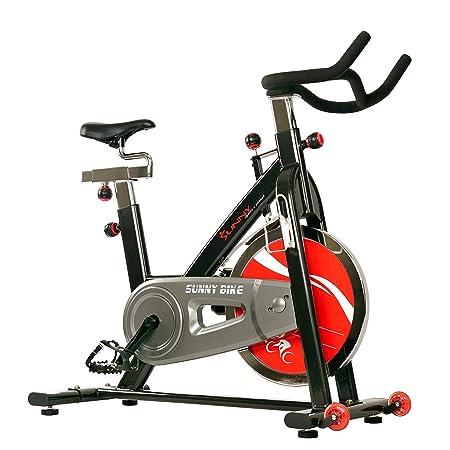 Sunny Health Fitness SF-B1002C Chain Drive Indoor Cycling Bike, Grey