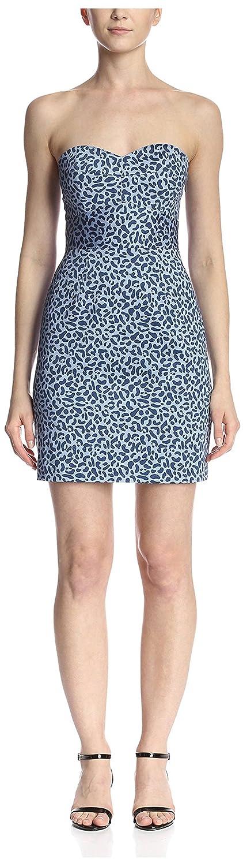 bluee Hutch Women's Printed Strapless Dress