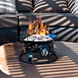Sunward Patio Portable Outdoor 58,000 BTU Propane Fire Pit/19 Fire bowl/Lava Rocks, Carry Handle, Lid and Weather Resistant Bag Included!