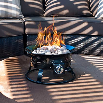 Merveilleux Sunward Patio Portable Outdoor 58,000 BTU Propane Fire Pit / 19u0026quot; Fire  Bowl/Lava