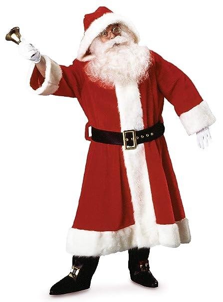 Amazon.com: Rubie s Old-Time de peluche traje de Papá Noel ...