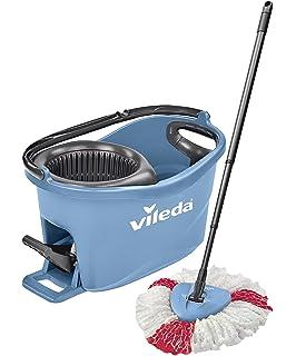 Vileda Turbo EASYWORLD Anillo & Clean Box Suelo Set de Limpieza, Plástico, Azul,