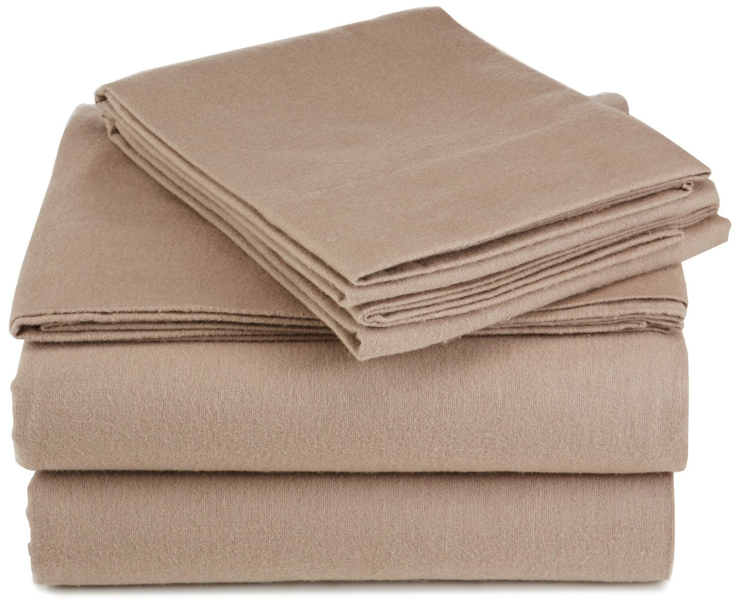 Pinzon Lightweight Cotton Flannel Sheet Set - California King, New Taupe