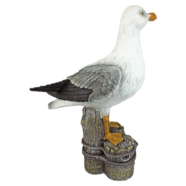 Polyresin Design Toscano Dockside Seagull Coastal Decor Garden Statue 43 cm Full Color