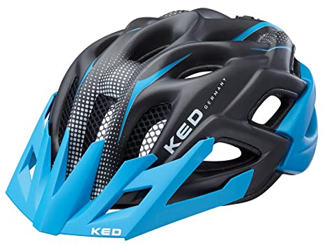 Helme Radsport Junior Jugendhelm Kinderhelm Fahrradhelm blue black matt 49-54 cm KED Status jr