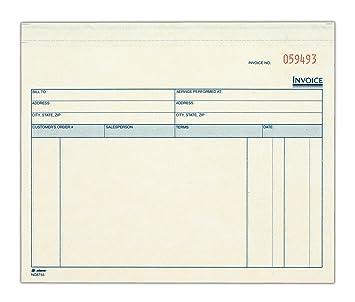 Amazoncom Adams Invoice For Services Unit Sets X Inches - Adams invoice dc5840