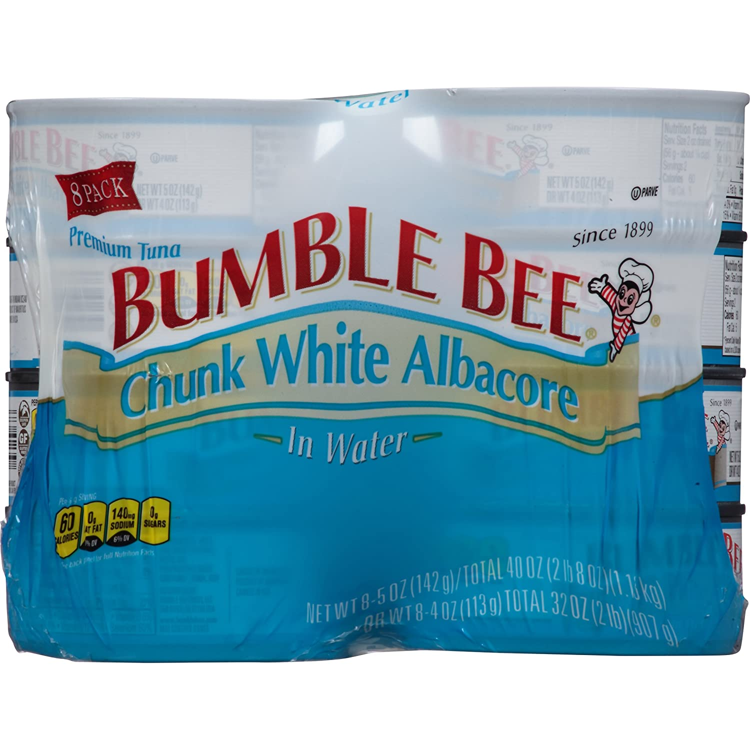Bumble Bee Chunk White Albacore Tuna in Water, 5 oz, 8 Count
