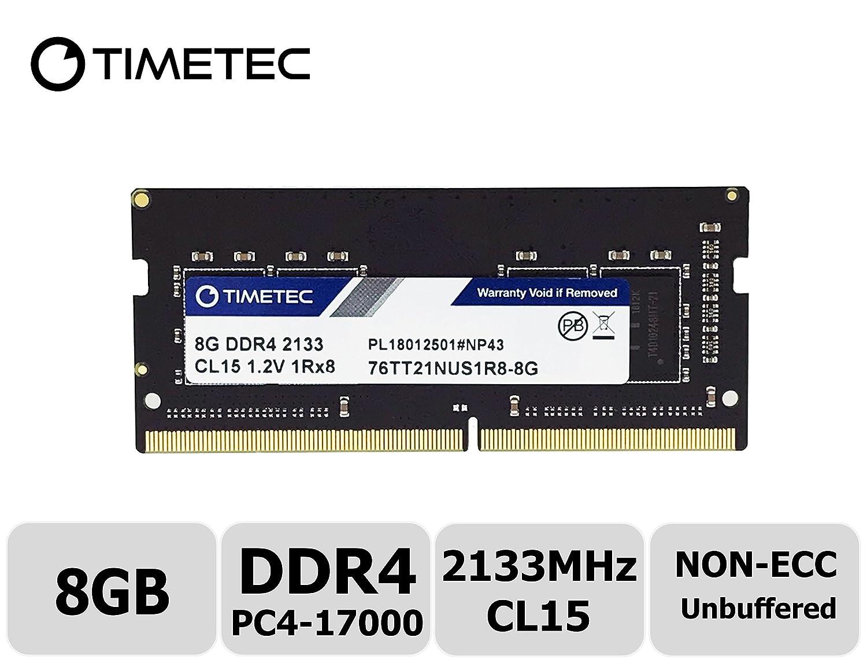 Memoria Ram 8gb 2133mhz Pc4-17000 Unbuffered Non-ecc 1.2v Cl15 1rx8 Single Rank 260 Pin Sodimm Timetec Hynix Ic