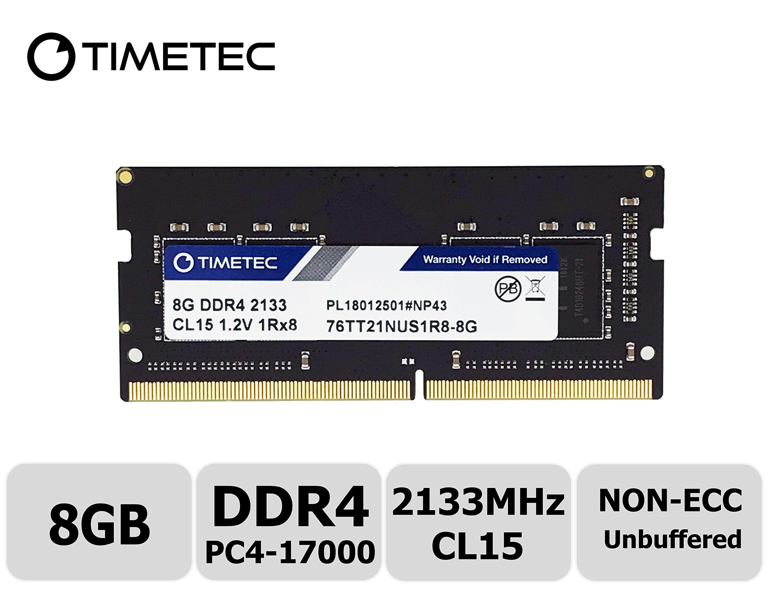 Memoria Ram 8gb Timetec Hynix Ic Ddr4 Sodimm Para Intel Nuc Kit/mini Pc/htpc/nuc Board 2133mhz Pc4-17000 Non Ecc Unbuffe