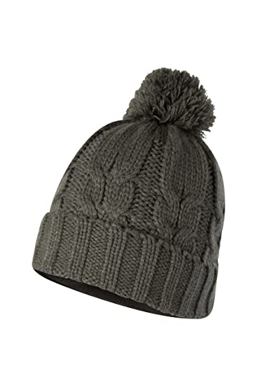 5cbaf03674897 Mountain Warehouse Gorro Frosty Bobble para Hombre - Gorro Polar con pompón