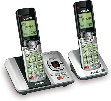 Handset 4-Cordless Phone Digital Answering System ID Call Waiting Home Office US