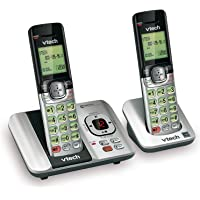 VTech CS6529-2 DECT 6.0 Phone Answering System with Caller ID/Call Waiting, 2 Cordless Handsets, Silver/Black