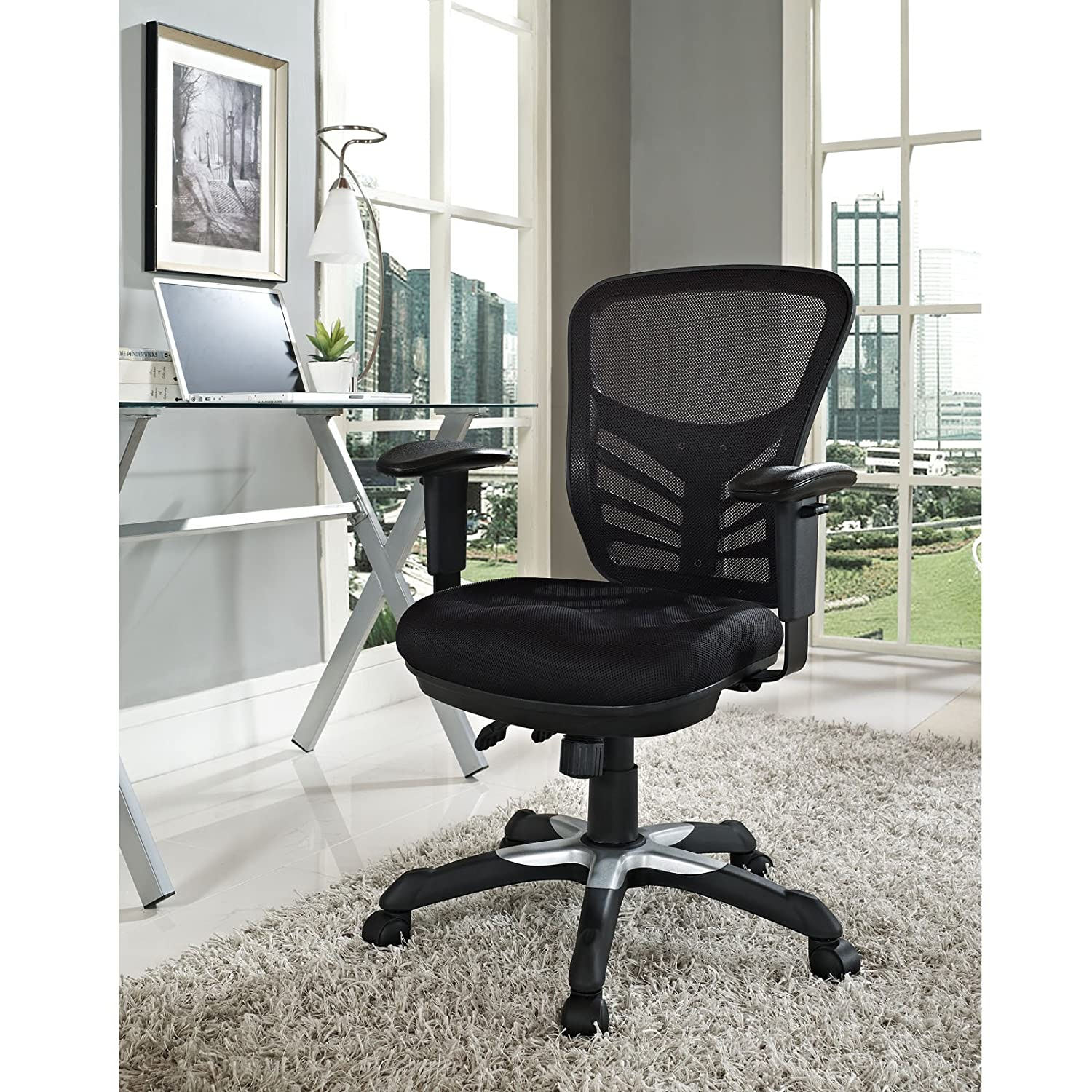 Amazon Modway Articulate Black Mesh fice Chair Kitchen
