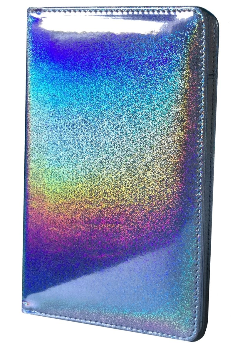Holographic Glitter Silver Server Book for Waitress Book Server Wallet Waiter Book Cute Bling Waitstaff Organizer Fit Waitress Apron by Mymazn (Image #1)