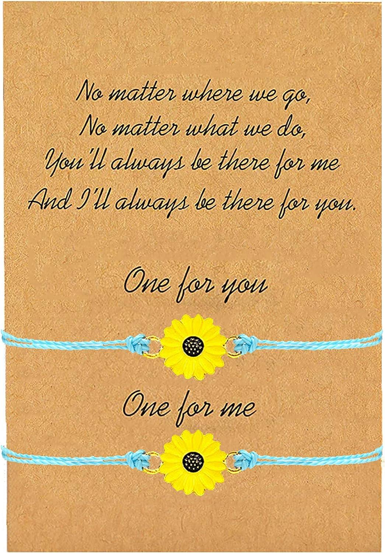 YANCHUN Long Distance Bracelet for Best Friends Handmade Wave Bracelet for Women Girls Promise Friendship Bracelet for 2