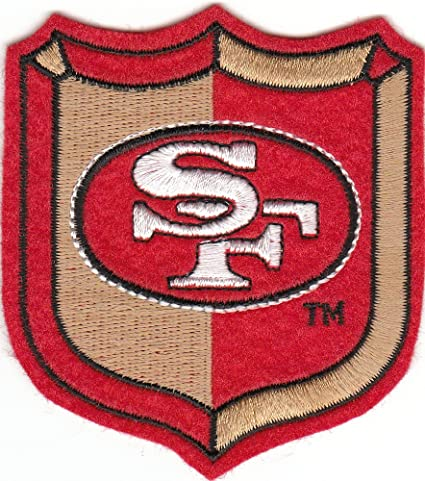 amazon com vintage 80s san francisco sf 49ers red 3 old logo crest