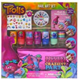 Amazon Price History for:Townley Girl Dreamworks Trolls Nail Art Set, Includes: 240 Nail Gems, 42 Stickers, 7 Polishes, Carrying Bag