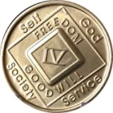 4 Year NA Medallion Official Narcotics Anonymous Chip IV