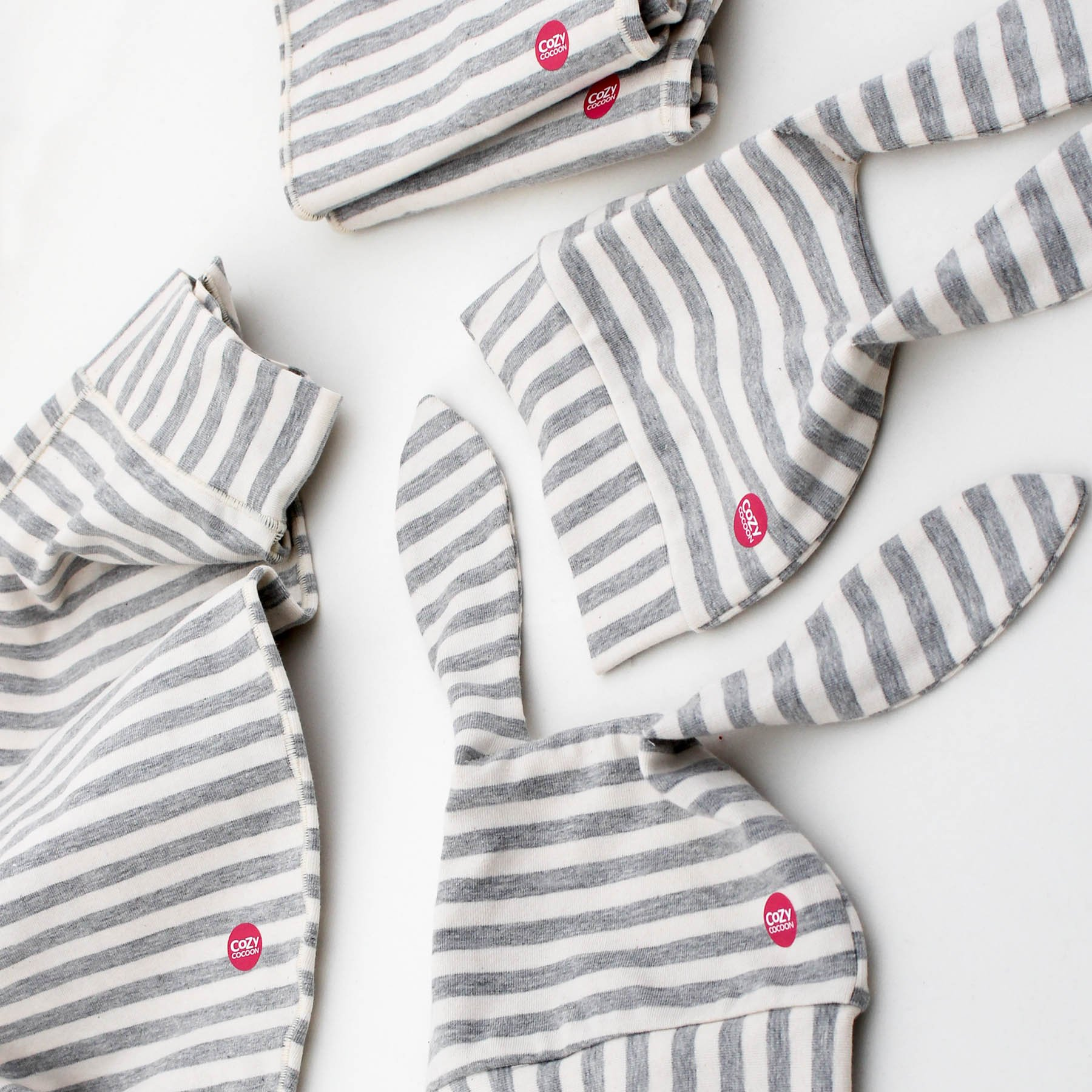 Cozy Cocoon Baby Cocoon Swaddle and Matching Hat, Gray Stripes, 0-3 months by Cozy Cocoon (Image #6)