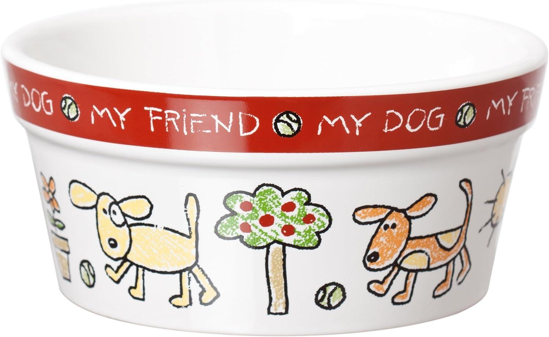 Signature Housewares Color Me Happy Dog Bowl