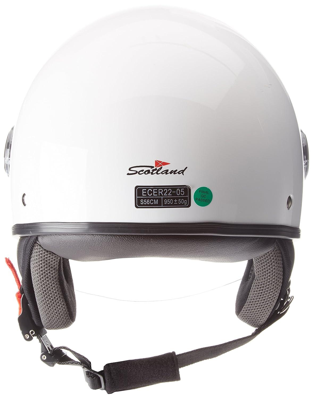 Bianco Scotland 100041flash Casco Moto Taglia M