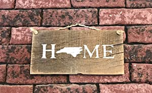 EricauBird Wall Art North Carolina Sign - North Carolina Home Sign - North Carolina State Decor - Home State Sign - North Carolina Gifts - NC State Art Wood Plaque, Custom Gift