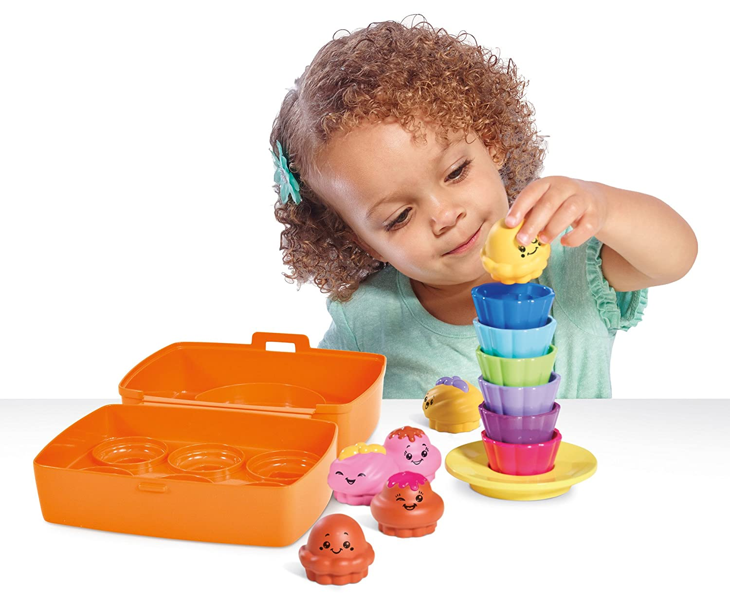 Baby Tomy Shake and Sort Cupcakes Activity Toy Role Play Educational for Kids/Toddler Baby Gear