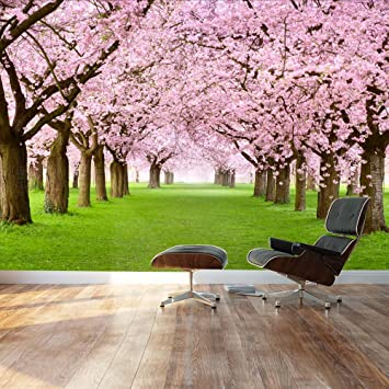 Wall26   Beautiful Cherry Blossom Trees   Landscape   Wall Mural, Removable  Sticker, Home