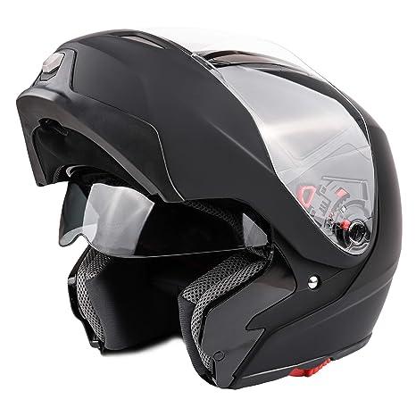 Amazon.com: Casco de doble visera para motocicleta modular ...
