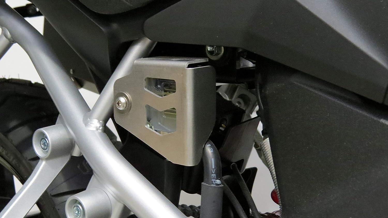 MyTech SUZUKI V-Strom 1000 ABS dal 2014 Protezione serbatoio olio freno posteriore anodizzata silver per