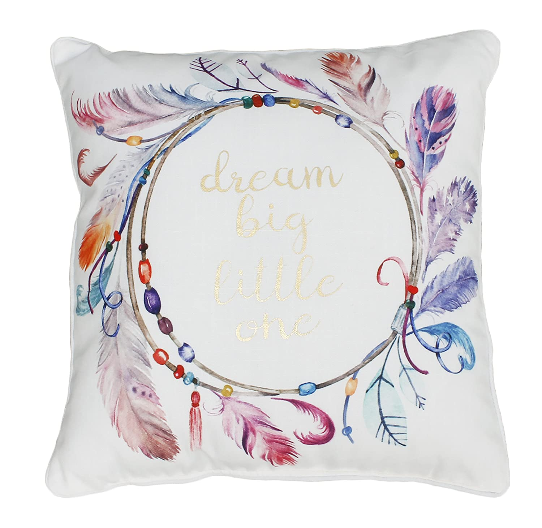 Multi Thro by Marlo Lorenz TH015367001E Sharona Dream Big Watercolor Printed Kids Pillow