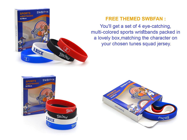 swbfan Espacio Jam de la camiseta # 2 D. Pato Tune Squad Baloncesto Jerseys Movie Inspirado - Looney Tunes diseño incluyen swbfan Caja de 4 temática de ...