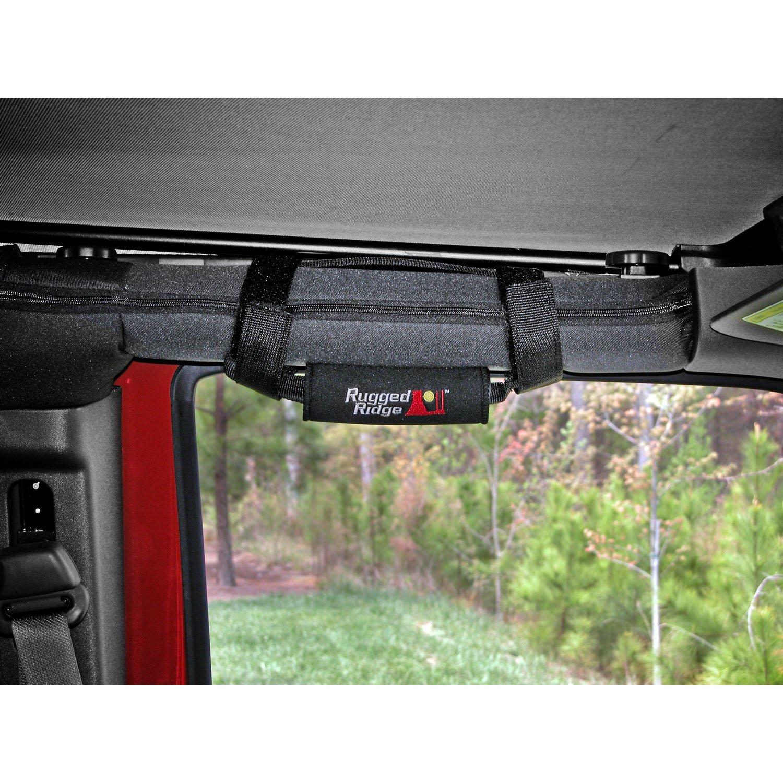 Black; 55-19 Jeep CJ//Wrangler//Gladiator Grab Handle Kit Neoprene
