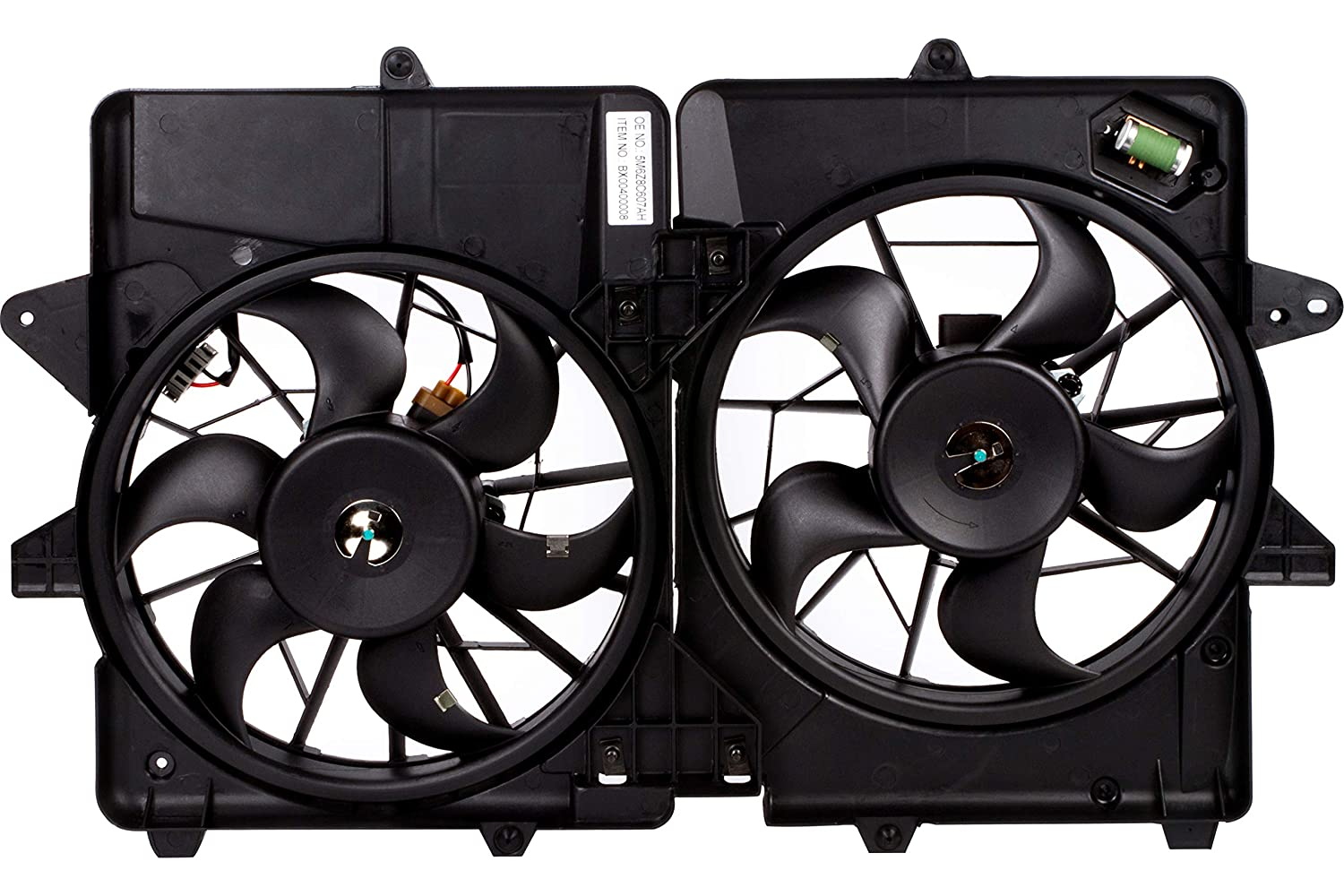 BOXI Engine/Radiator Cooling Fan Assembly For Ford Escape Hybrid 2005-2012, Mercury Mariner Hybrid 2006-2011 5M6Z8C607AH