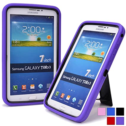 huge selection of 2d527 b4b5f Cooper Cases(TM) Titan Samsung Galaxy Tab 3 7.0 (T211/T215) Rugged & Tough  Case in Purple + Free Screen Protector